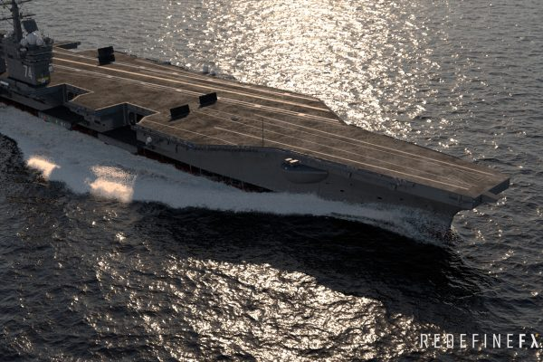 #7 Aircraft Carrier Ship Wake
