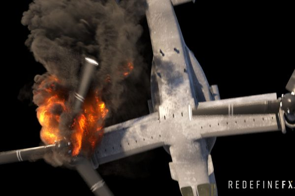#1 Osprey Engine Fire (Inspired by Transformers 3)