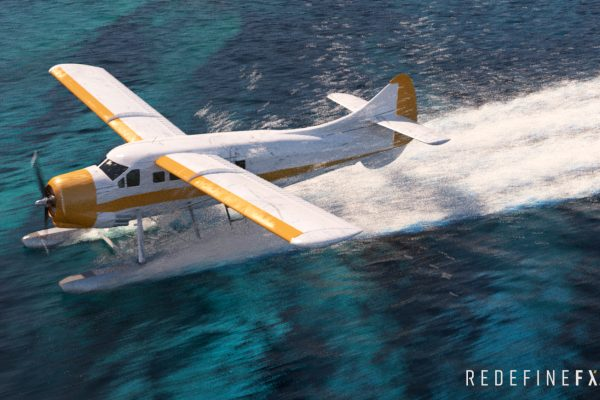 #5 Seaplane Landing with Underwater Terrain for Added Detail