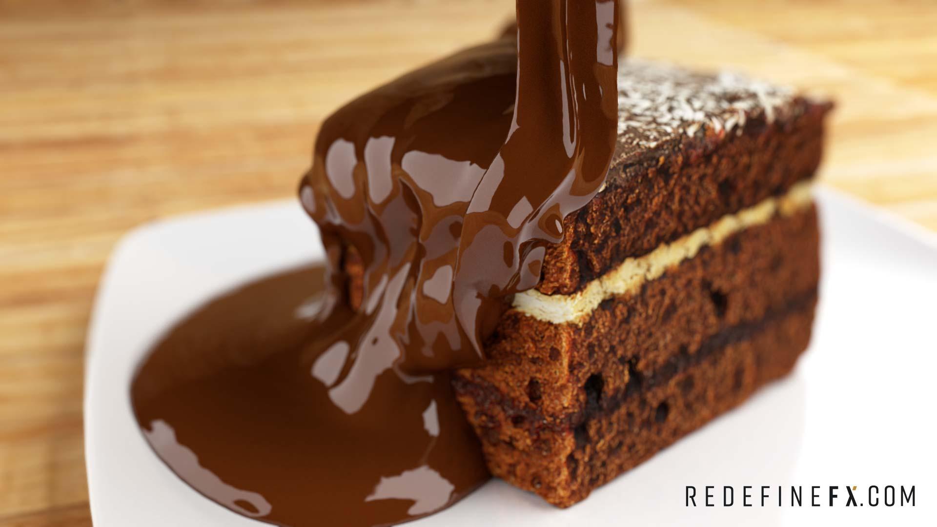 chocolate liquid simulation
