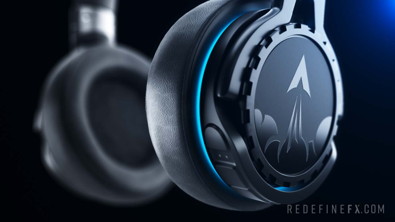 product rendering headphones