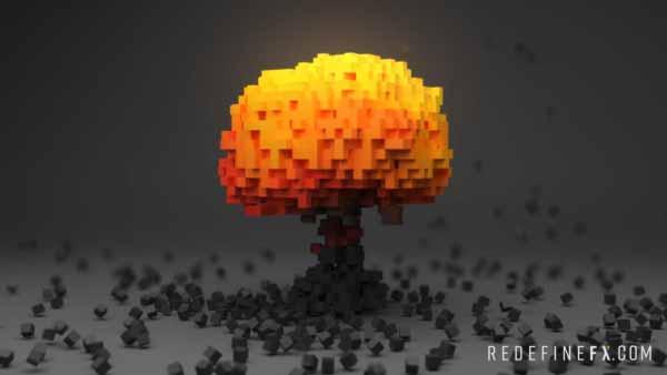 tyflow explosion voxels